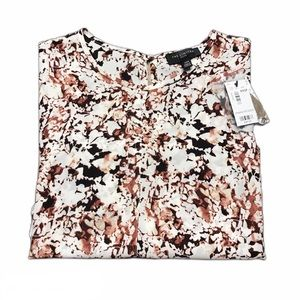 The Limited Floral Cap Sleeve Blouse